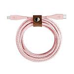 Câble USB-C vers Lightning avec sangle de fermeture (rose) - 1,2 m