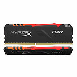 HyperX Fury RGB - 2 x 32 Go (64 Go) - DDR4 3600 MHz - CL18