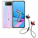 Asus Zenfone 7 Blanc + Bose SoundSport Wireless Pulse Rouge