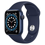 Apple Watch Series 6 Aluminium (Bleu - Bracelet Sport Bleu) - GPS - 40 mm