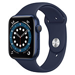 Apple Watch Series 6 Aluminium (Bleu- Bracelet Sport Bleu) - GPS - 44 mm
