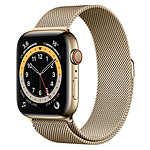 Apple Watch Series 6 Acier inoxydable (Or - Bracelet Milanais Or) - Cellular - 44 mm