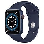 Apple Watch Series 6 Aluminium (Bleu - Bracelet Sport Bleu) - Cellular - 44 mm