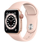 Apple Watch Series 6 Aluminium (Or - Bracelet Sport Rose) - Cellular - 40 mm
