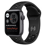 Apple Watch Nike Series 6 Aluminium (Gris sidéral - Bracelet Sport Noir) - GPS - 40 mm