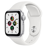 Apple Watch SE Aluminium (Argent - Bracelet Sport Blanc) - GPS - 40 mm