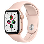 Apple Watch SE Aluminium (Or - Bracelet Sport Rose) - GPS - 40 mm