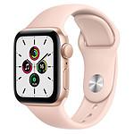 Apple Watch SE Aluminium (Or - Bracelet Sport Rose) - GPS - 40 mm