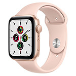 Apple Watch SE Aluminium (Or - Bracelet Sport Rose) - GPS - 44 mm