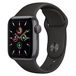 Apple Watch SE Aluminium (Gris sidéral - Bracelet Sport Noir) - GPS - 40 mm