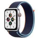 Apple Watch SE Aluminium (Argent - Bracelet Sport Marine intense) - Cellular - 44 mm