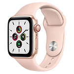 Apple Watch SE Aluminium (Or - Bracelet Sport Rose) - Cellular - 40 mm
