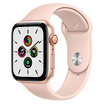 Apple Watch SE Aluminium (Or - Bracelet Sport Rose) - Cellular - 44 mm