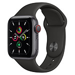 Apple Watch SE Aluminium (Gris sidéral - Bracelet Sport Noir ) - Cellular - 40 mm