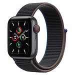 Apple Watch SE Aluminium (Gris sidéral - Bracelet Sport Charbon) - Cellular - 40 mm