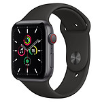 Apple Watch SE Aluminium (Gris sidéral - Bracelet Sport Noir ) - Cellular - 44 mm