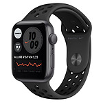 Apple Watch Nike SE Aluminium (Gris sidéral- Bracelet Sport Noir) - GPS - 44 mm