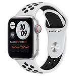 Apple Watch Nike SE Aluminium (Argent - Bracelet Sport Platine Pur / Noir) - Cellular - 40 mm