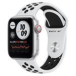 Apple Watch Nike SE Aluminium (Argent - Bracelet Sport Platine Pur / Noir) - Cellular - 40 mm