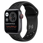 Apple Watch Nike SE Aluminium (Gris sidéral - Bracelet Sport Noir) - Cellular - 40 mm