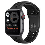 Apple Watch Nike SE Aluminium (Gris sidéral - Bracelet Sport Noir) - Cellular - 44 mm
