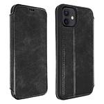Akashi Etui folio cuir (noir) - Apple iPhone 12 | 12 Pro Max