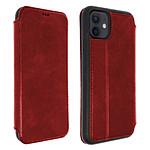 Akashi Etui folio cuir (rouge) - Apple iPhone 12 | 12 Pro