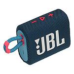 JBL GO 3 Bleu/Rose - Enceinte portable
