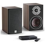 Dali Oberon 1 C (la paire) - Noyer foncé + Sound Hub Compact