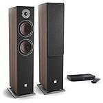 Dali Oberon 7 C (la paire) - Noyer foncé + Sound Hub Compact