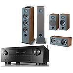 Denon AVC-X3700H Noir + Focal Pack d'enceintes Chora 826 D HCM 5.0.2 Dolby Atmos Dark Wood