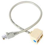 StarTech.com Câble répartiteur, adaptateur Ethernet 1x RJ45 (mâle) 2x RJ45 (femelle)