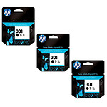 HP 301 Pack de 3 Noir (CH561EE x 3)
