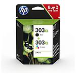 HP 303XL Pack de 2 Noir, 3 Couleurs (3YN10AE)
