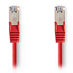 NEDIS Câble RJ45 catégorie 5e SF/UTP 0.5 m (Rouge)