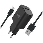 Xqisit Travel Charger 2.4 A USB / Micro-USB Noir