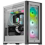 Corsair iCUE 5000X RGB Tempered Glass - Blanc