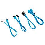 Corsair - Kit d'extension gainé pour panneau avant (30 cm) - Bleu