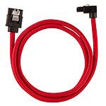 Corsair Câble SATA gainé Premium connecteur coudé (rouge) - 60 cm