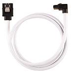 Corsair Câble SATA gainé Premium connecteur coudé (blanc) - 60 cm