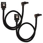 Corsair Câble SATA gainé Premium connecteur coudé (noir) - 60 cm