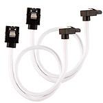 Corsair Câble SATA gainé Premium connecteur coudé (blanc) - 30 cm