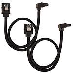 Corsair Câble SATA gainé Premium connecteur coudé (noir) - 30 cm