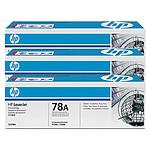 HP Toner Noir CE278A x 3