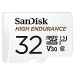 SanDisk High Endurance microSDHC UHS-I U3 V30 32 Go + Adaptateur SD
