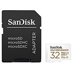 SanDisk Max Endurance microSDHC UHS-I U3 V30 32 Go + Adaptateur SD