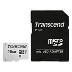 Transcend MicroSDHC 300S 16 Go + Adaptateur SD