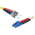 Jarretière optique duplex monomode 2mm OS2 LC-UPC/ST-UPC, 1 m
