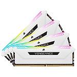 Corsair Vengeance RGB Pro SL Blanche - 4 x 16 Go (64 Go) - DDR4 3600 MHz - CL18