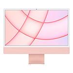 """Apple iMac (2021) 24"""" 8 Go/512 Go Rose (MJVA3FN/A-8GB/512GB-MKPN)"""